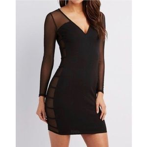 NWT Charlotte Russe Black Bodycon Dress
